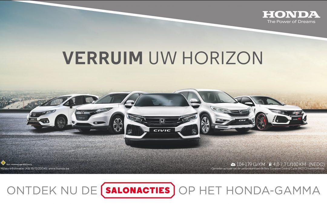 Honda Saloncondities tot € 6.500 KORTING + 0% Financiering!