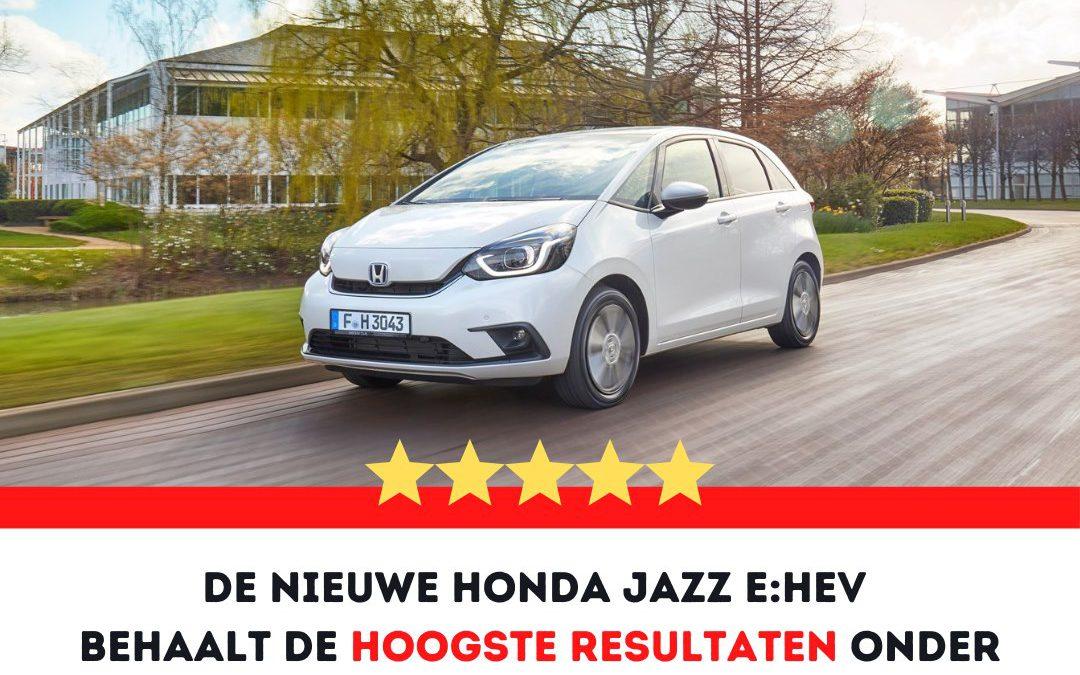 5 NCAP sterren voor de nieuwe Honda Jazz e:HEV